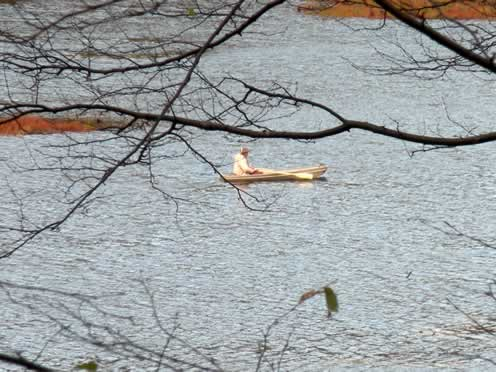 boater on timberbrook pond