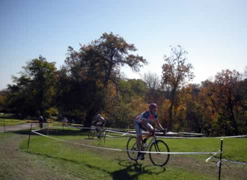 rider on a flat section of the course
