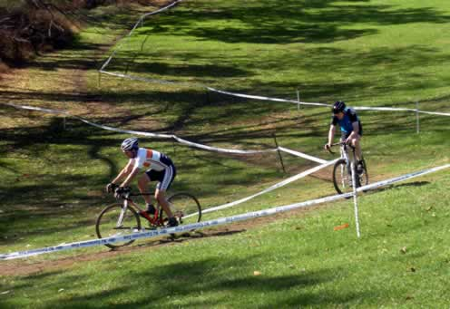 riders approach the running up hill