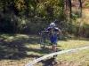 rider running uphill