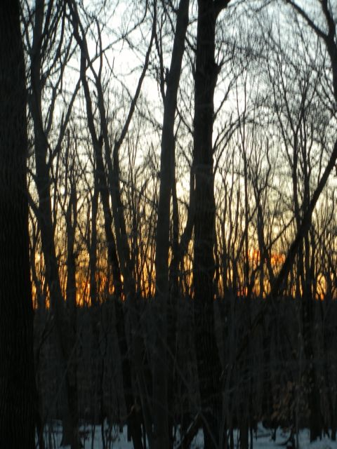sunset in clyde potts watershed