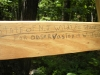 sign on rung of ladder to hunter\'s blind
